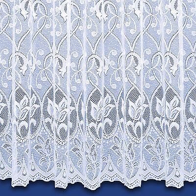 £2.70 • Buy Zoe Jacquard Net Curtain In White - Sold By The Metre - Free Postage