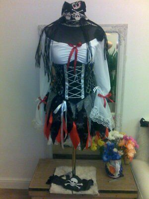 PIRATE  Lady Wench Under Bust Pull In  Corset Costume • 175£
