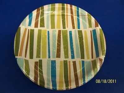 Striped Palm Tree Summer Luau Party 9  Dinner Plates • 2.50£
