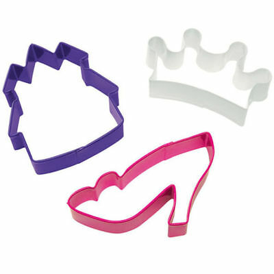 £5.75 • Buy Princess Cookie Cutter Set 3 Pc From Wilton  0915