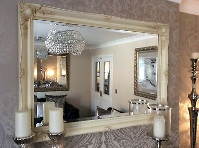 £89.99 • Buy NEW Cream Shabby Chic Ornate Mirror - CHOOSE YOUR SIZE - Ready To Hang *BARGAIN*
