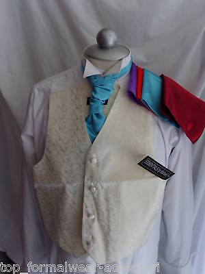 £22.94 • Buy IVORY Boys Silk Waistcoat-2 Years To 10 Years- With OR Without Cravat And Hankie