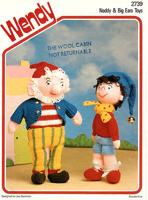 Noddy & Big Ears Colourful Toy Knitting Pattern 12 /30.5cm  Great Gift ! • 2.75£