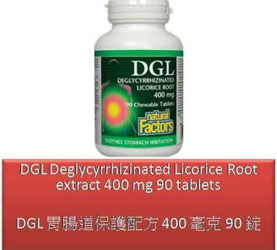 90 T DGL Deglycyrrhizinated Licorice Root Extract 400 Mg - Natural Factors • 12.84£
