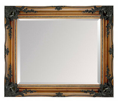 LARGE Walnut & Gold Framed Ornate Wall Overmantle Mirror - CHOOSE YOUR SIZE • 99.99£