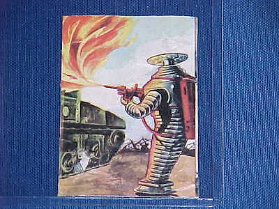 AU356.30 • Buy 1960's LOST IN SPACE TV ROBOT B9 ARMY FLAME THROWER TANK TRADING CARD RARE