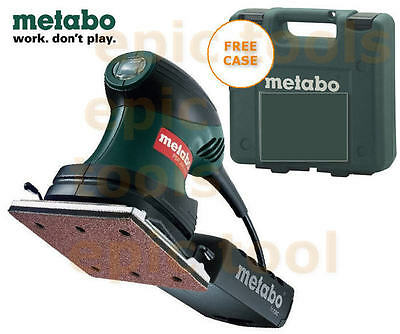 METABO 240v FSR200 1/4  Sheet Palm/Hand Sander + Storage Case + Pad, Punch Plate • 42.95£