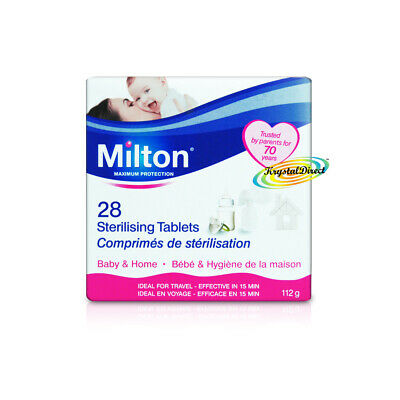 Milton 28 Sterilising Tablets Maximum Protection For Baby Items • 5.25£