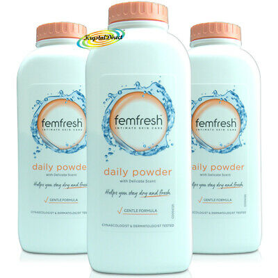 3x Femfresh Intimate Hygiene Talc Free Lightly Fragranced Absorbent Powder 200g  • 14.83£