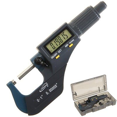 $36.95 • Buy IGaging Digital Electronic Micrometer Outside 0-1 /0.00005  X-Large LCD Carbide