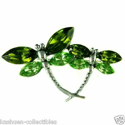 £36.24 • Buy ~Green DRAGONFLY Made With Swarovski Crystal Bridal Mother Baby Child Pin Brooch