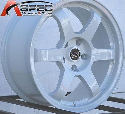 AU1030.83 • Buy 17x8 Rota Grid Wheels 5x114.3 Rim Et35mm White Fits 5 Lug Civic Accord