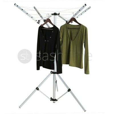 £29.99 • Buy 4 Arm 16m Rotary Clothes Airer Washing Line Dryer Garden Ground Spike Cover New