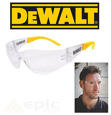 £6.95 • Buy DeWalt Protector Clear UV Sun Protection Safety Glasses For Men & Woman DPG54-1D