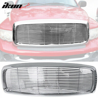 $82.99 • Buy Fits 02-05 Dodge Ram 1500 2500 3500 Front Hood Bumper Grill Grille Chrome ABS