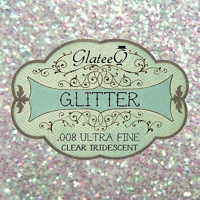 GlateeQ 20g Clear Iridescent Glitter .008 - Craft, Nail Art Or Floristry • 1.49£