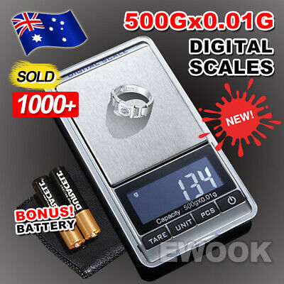 AU10.95 • Buy OZ Best 500g 0.01g Mini Pocket Electronic Digital Weight Scales Gold Jewellery
