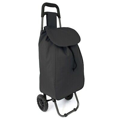 £12.99 • Buy Large Lightweight Wheeled Shopping Trolley Push Cart Luggage Bag With Wheels New