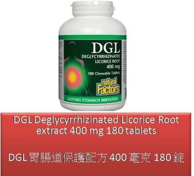 180 T DGL Deglycyrrhizinated Licorice Root Extract 400 Mg - Natural Factors • 21.05£
