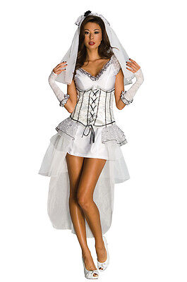 Gothic Mistress Ghost Zombie Monster Bride Dress Up Halloween Sexy Adult Costume • 39.79£