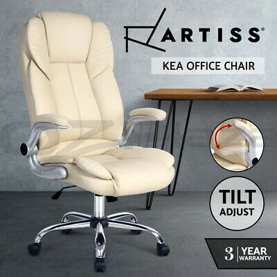 AU139.95 • Buy Artiss Executive Gaming Office Chair Computer Arm Chairs Work Seating Beige