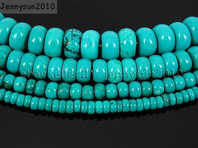 $ CDN4.31 • Buy Stabilized Turquoise Gemstone Rondelle Spacer Beads 16'' 4mm 6mm 8mm 10mm 12mm