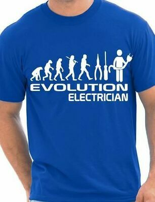 £7.99 • Buy Evolution Of Electrician Funny Mens T-Shirt Gift Size S-XXL