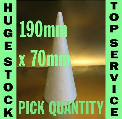 £5.65 • Buy 19cm 190mm Tall Polystyrene Cones Top Quality Christmas Craft & Sweet Trees