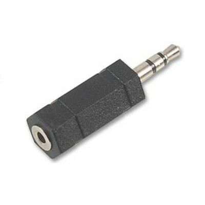 2.5mm Jack To 3.5mm Jack STEREO Audio Adaptor Connector Socket Female Plug Male • 1.99£