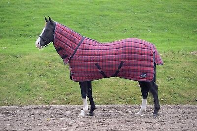 Masta Quiltmasta 350g Heavyweight Fixed Neck Stable Horse Rug, Combo • 62.99£