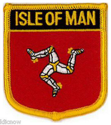 £2.99 • Buy Isle Of Man (Shield) Embroidered Patch 6CM X 7CM (2 1/2  X 2 3/4 )
