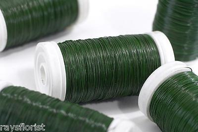 £5.99 • Buy Green Reel Wire Lacquered Florist Rose Wire Roll Smithers Oasis Floristry Crafts