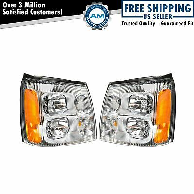 $152.94 • Buy Headlights Headlamps LH & RH Pair Set For 02 Cadillac Escalade Pickup Truck EXT