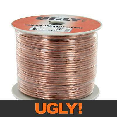 AU33 • Buy 50m 20AWG UGLY Speaker Cable OFC 20 Gauge AWG 28x0.15mm Strand