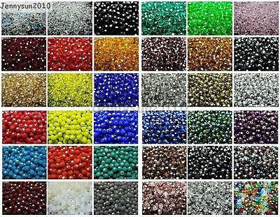 $ CDN2.58 • Buy Czech Crystal 4mm Faceted Round Loose Beads For Bracelet Necklace Jewelry Making