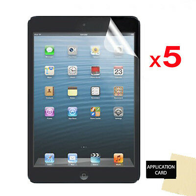 5 X CLEAR LCD Screen Protector Guards For Apple IPad Mini 2 With Retina Display • 3.95£