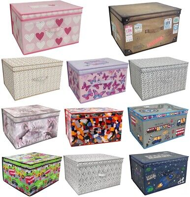 Large Clothes Laundry Bedding Toy Storage Box Bag Childrens Kids Chest Tidy • 9.75£