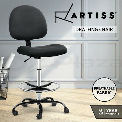 AU89 • Buy Artiss Office Chair Veer Drafting Chairs Stool Computer Chair Footrest Black