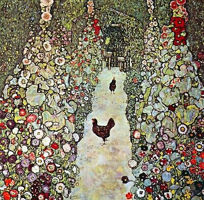 $ CDN57.16 • Buy Garden Path With Chickens By Gustav Klimt Giclee Fine Art Print Repro On Canvas