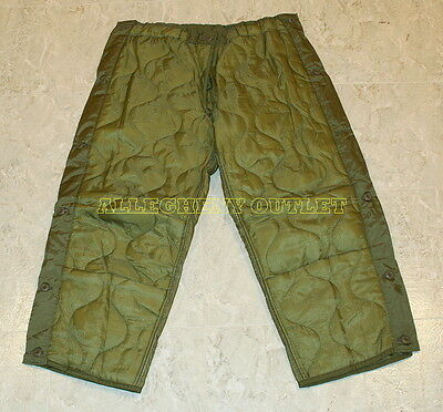 $6.90 • Buy US Military Cold Weather M65 Quilted OD Trousers Field Pants Liners Many Sizes
