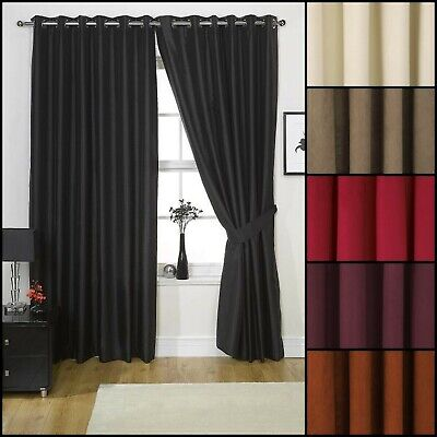 Faux Suede Ring Top Lined Curtains - Various Colours And Sizes • 33.99£