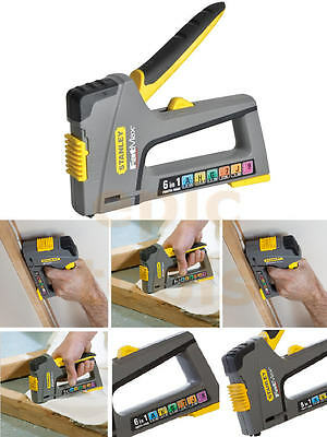 £34.95 • Buy STANLEY FatMax TR75 6in1 Hand Staple/Cable Tacker Brad Nail Gun Stapler 070868