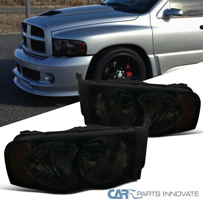 $65.95 • Buy For 02-05 Dodge Ram 1500 2500 3500 Euro Replacement Smoke Lens Headlights Lamps