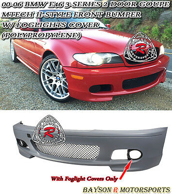 $298.99 • Buy M-Tech II Style Front Bumper Fits 00-06 BMW E46 3-Series 2dr Coupe