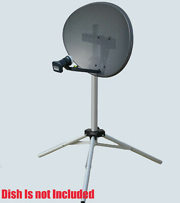 SAB Silver Satellite Dish Tripod Mount Stand Camping Caravan For Sky Freesat • 17.99£