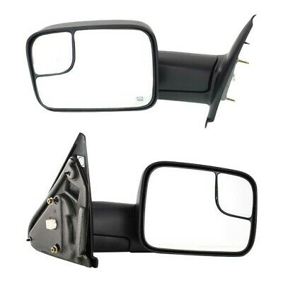 $139.68 • Buy Tow Mirror Set For 2002 2009 Dodge Ram 1500 Driver & Passenger Side Power Heated