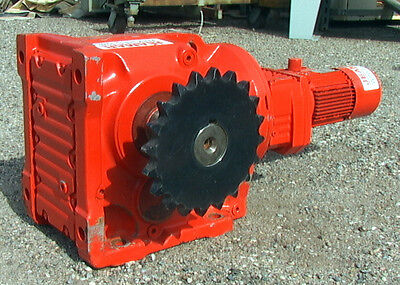 $4995 • Buy Right Angle Gear Motor .75 Hp 1430:1 Ratio, 1.2 Rpm Jeamar Winches M/n GM-K-97-7