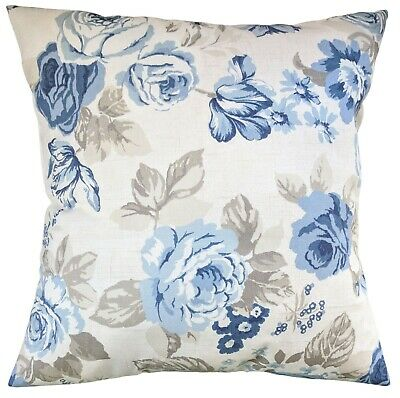 £8.75 • Buy Cushion Cover In Clarke And Clarke Genevieve Roses Cream Blue 14  16  18  20