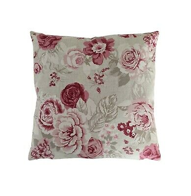 £10.95 • Buy Cushion Cover In Clarke And Clarke Genevieve Roses Cream Red 14  16  18  20
