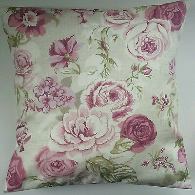 £8.75 • Buy Shabby Chic Cushion Cover In Clarke And Clarke Roses Purple 14  16  18  20